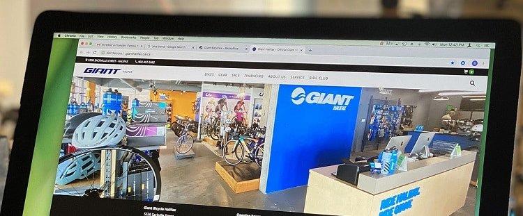 Buscando en la tienda de bicicletas en línea