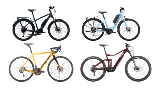 image collage of different class 3 electric bikes