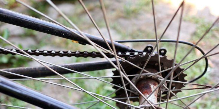 bicycle gear speed that is worn and rusty but can royalty free image 1602873361